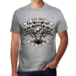 Speed Junkies Since 1973 Mens T-Shirt Grey Birthday Gift 00463 - Grey / S - Casual