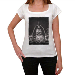 St. Louis Womens Short Sleeve Round Neck T-Shirt 00111