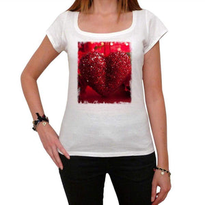 St Valentine Day Rose Love Heart Tshirt White Womens T-Shirt 00157