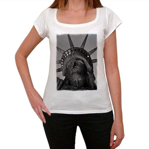 Statue Of Liberty 1 Womens Short Sleeve Round Neck T-Shirt 00111