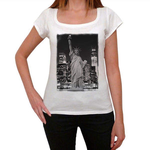 Statue Of Liberty 5 Womens Short Sleeve Round Neck T-Shirt 00111
