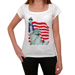 Statue Of Liberty 6 Womens Short Sleeve Round Neck T-Shirt 00111