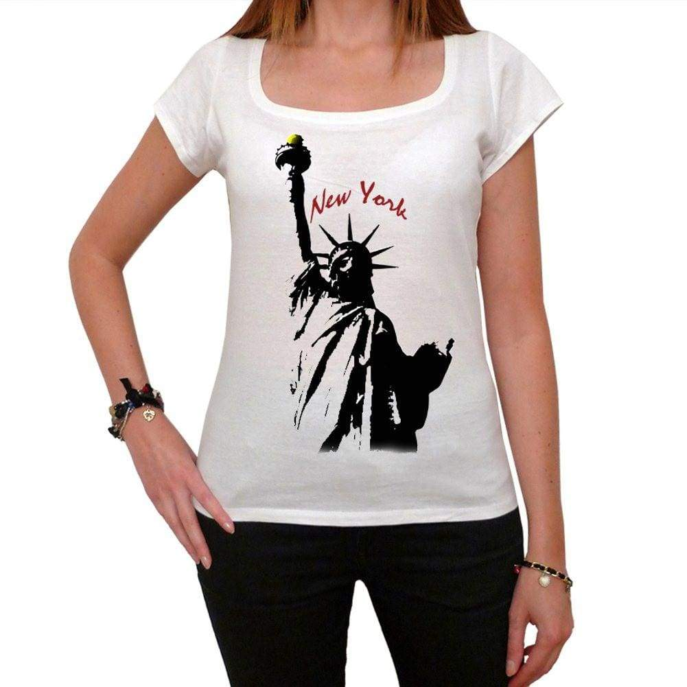 Statue Of Liberty Tshirt Womens Short Sleeve Scoop Neck Tee 00181