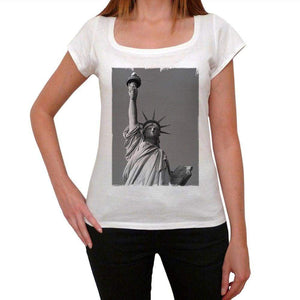 Statue Of Liberty Womens Short Sleeve Round Neck T-Shirt 00111