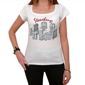 Stonehenge Tshirt Womens Short Sleeve Scoop Neck Tee 00181 - Casual