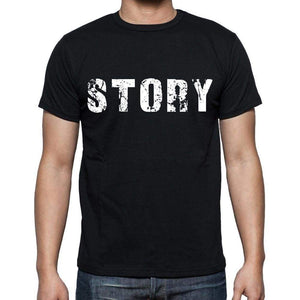 Story Mens Short Sleeve Round Neck T-Shirt Black T-Shirt En - Casual