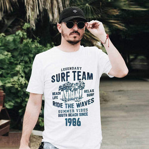 Surf Team Since 1986 Mens Vintage Tee Shirt Graphic T Shirt