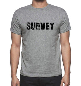 Survey Grey Mens Short Sleeve Round Neck T-Shirt 00018 - Grey / S - Casual
