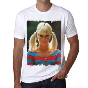Sylvie Vartan Sixties H Tshirt Mens Tee White 100% Cotton 00196