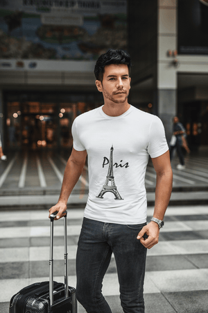 Eiffel Tower t shirts men, <span><span>Short Sleeve</span></span> T-Shirt, T Shirt, Cotton Tee Shirt for <span>Men's</span> 00182