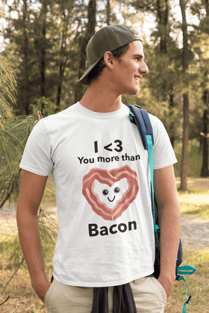 • Men's Vintage Tee Shirt <span>Graphic</span> T shirt Valentine Bacon Round neck
