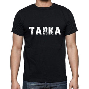 Tarka Mens Short Sleeve Round Neck T-Shirt 5 Letters Black Word 00006 - Casual