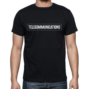 Telecommunications T Shirt Mens T-Shirt Occupation S Size Black Cotton - T-Shirt