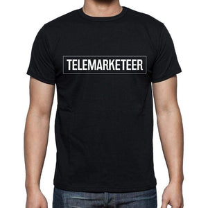 Telemarketeer T Shirt Mens T-Shirt Occupation S Size Black Cotton - T-Shirt