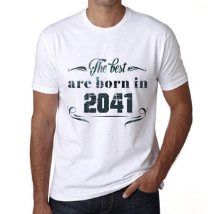 The Best Are Born In 2041 Mens T-Shirt White Birthday Gift 00398 - White / Xs - Casual