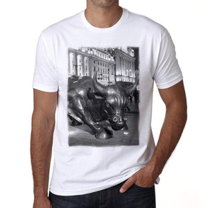 The Charging Bull Mens Short Sleeve Round Neck T-Shirt