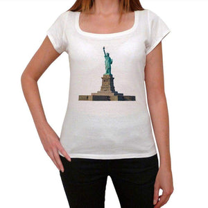 The Statue Of Liberty 5 Womens Short Sleeve Round Neck T-Shirt 00111