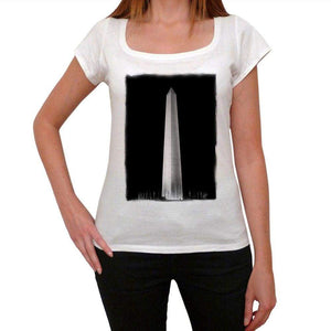 The Washington Monument Womens Short Sleeve Round Neck T-Shirt 00111