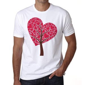 Tree Of Hearts Mens Tee White 100% Cotton 00156