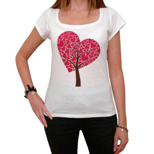 Tree Of Hearts Tshirt White Womens T-Shirt 00157