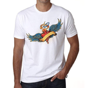 Tribal Crown Tattoo Mens White Tee 100% Cotton 00162