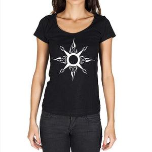 Tribal Key Tattoo Black Gift Tshirt Black Womens T-Shirt 00165