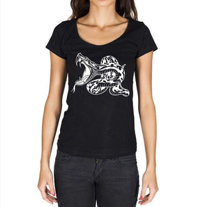Tribal Snake Tattoo Black Gift Tshirt Black Womens T-Shirt 00165