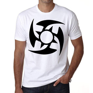 Tribal Star Tattoo Mens White Tee 100% Cotton 00162