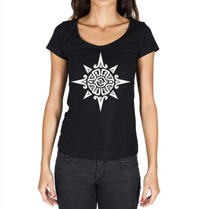 Tribal Sun Tattoo Black Gift Tshirt Black Womens T-Shirt 00165