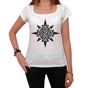 Tribal Sun Tattoo Womens Short Sleeve Scoop Neck Tee 00161