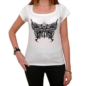Trible Butterflies And Roses Tattoo Womens Short Sleeve Scoop Neck Tee 00161