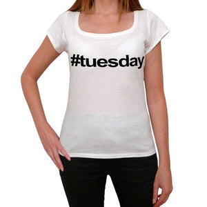 Tuesday Hashtag Womens Short Sleeve Scoop Neck Tee 00075