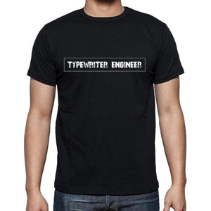 Typewriter Engineer T Shirt Mens T-Shirt Occupation S Size Black Cotton - T-Shirt