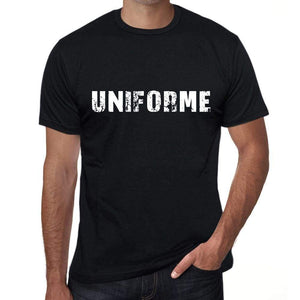 Uniforme Mens T Shirt Black Birthday Gift 00550 - Black / Xs - Casual