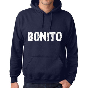 Unisex Printed Graphic Cotton Hoodie Popular Words Bonito French Navy - French Navy / Xs / Cotton - Hoodies