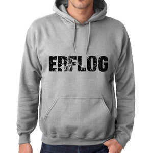 Unisex Printed Graphic Cotton Hoodie Popular Words Erflog Grey Marl - Grey Marl / Xs / Cotton - Hoodies