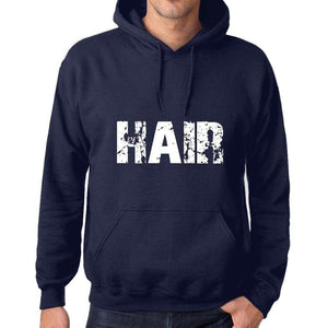 Unisex Printed Graphic Cotton Hoodie Popular Words Hair French Navy - French Navy / Xs / Cotton - Hoodies