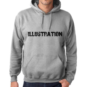 Unisex Printed Graphic Cotton Hoodie Popular Words Illustration Grey Marl - Grey Marl / Xs / Cotton - Hoodies