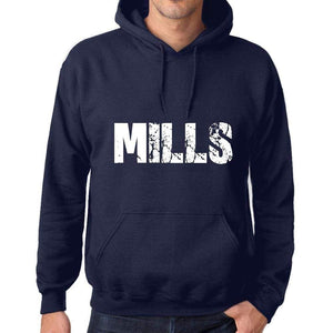 Unisex Printed Graphic Cotton Hoodie Popular Words Mills French Navy - French Navy / Xs / Cotton - Hoodies