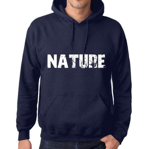 Unisex Printed Graphic Cotton Hoodie Popular Words Nature French Navy - French Navy / Xs / Cotton - Hoodies