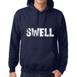 Unisex Printed Graphic Cotton Hoodie Popular Words Swell French Navy - French Navy / Xs / Cotton - Hoodies