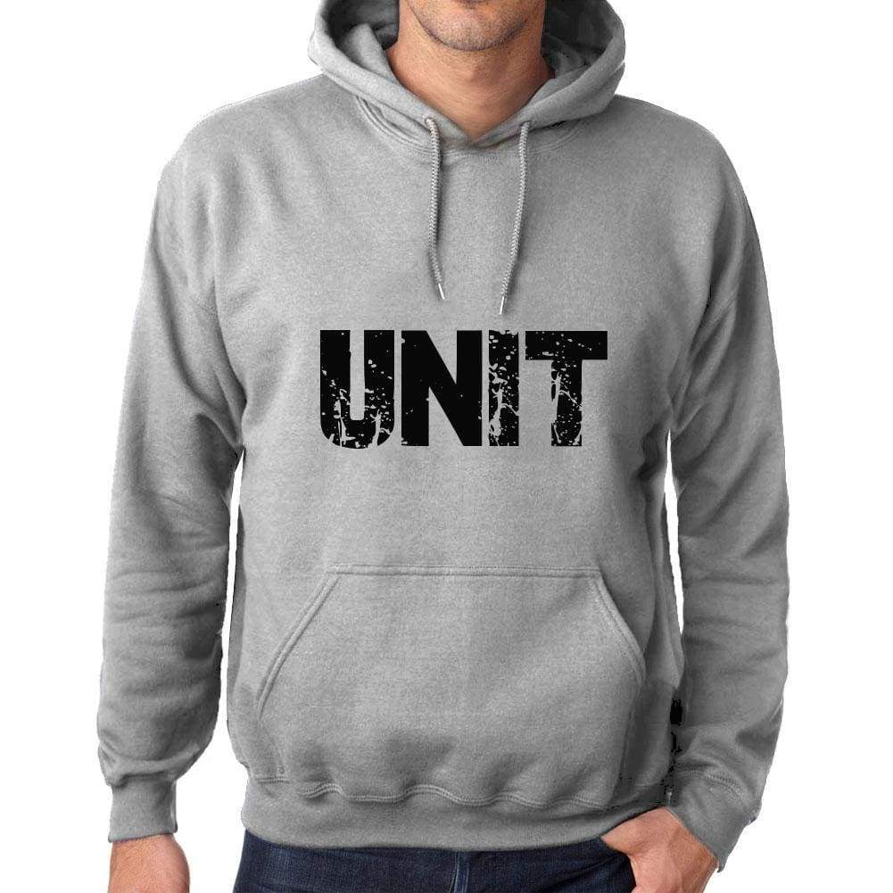Unisex Printed Graphic Cotton Hoodie Popular Words Unit Grey Marl - Grey Marl / Xs / Cotton - Hoodies
