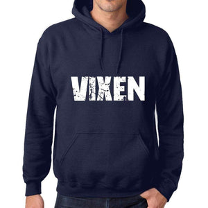 Unisex Printed Graphic Cotton Hoodie Popular Words Vixen French Navy - French Navy / Xs / Cotton - Hoodies