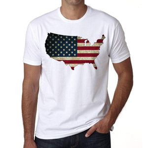 Usa 1 Mens Short Sleeve Round Neck T-Shirt