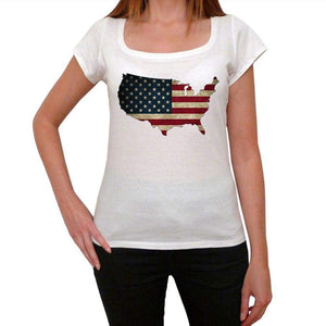 Usa 1 Tshirt Womens Short Sleeve Round Neck T-Shirt 00111