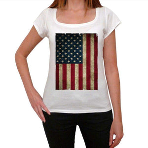 Usa 1 Womens Short Sleeve Round Neck T-Shirt 00111