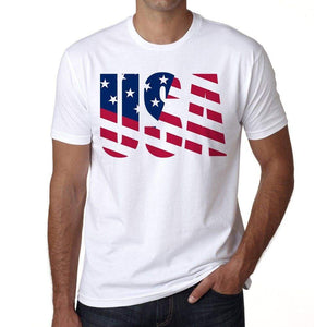 Usa 2 Mens Short Sleeve Round Neck T-Shirt