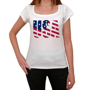 Usa 2 Womens Short Sleeve Round Neck T-Shirt 00111