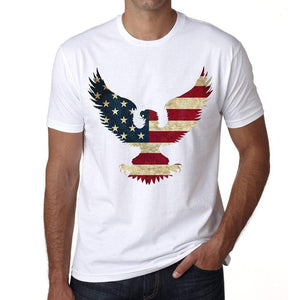 Usa Bald Eagle 1 Mens Short Sleeve Round Neck T-Shirt