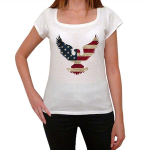 Usa Bald Eagle 1 Womens Short Sleeve Round Neck T-Shirt 00111